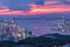 hongkong city in afternoon